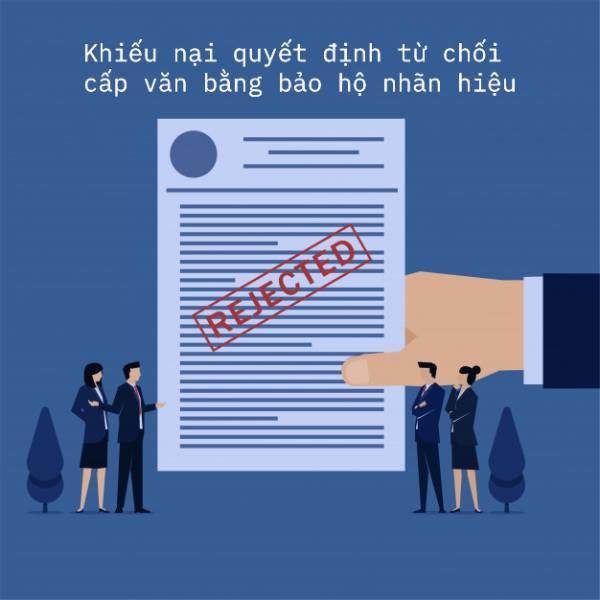 Khiếu nại quyết định tư chôi cấp giấy chứng nhận đăng ký nhãn hiệu